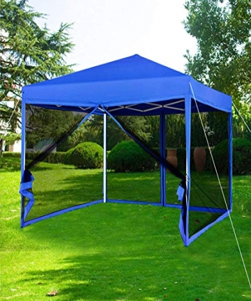 Supreme-Camping-Outdoor-Patio-Garden-Pop-Up-Gazebo-with-Mosquito-Net-Blue-B08JQBFSPP