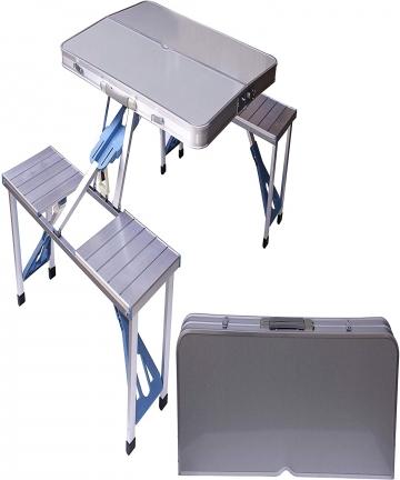 Aluminum-Folding-Camping-Picnic-Table-With-4-Seats-Portable-Set-Outdoor-Garden-FS-3695-Silver-2724336202