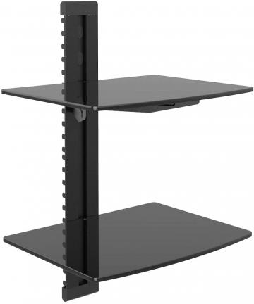 WALI-Floating-Wall-Mounted-Shelf-2-Shelf-Black-CS202-CS202
