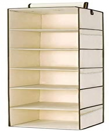 6-Section-Hanging-Wardrobe-Organiser-Garment-Shelves-Clothes-Shoe-Storage-Tidy-2724677538