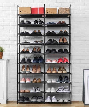 50-Pairs-Shoe-Rack-10-Tiers-Shoe-Organizer-Adjustable-Shoe-Tower-Cabinet-with-Waterproof-Dustproof-Cover-Non-Woven-Fabric-Tight-