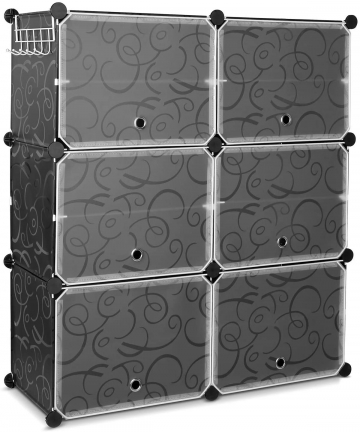 6-Tier-Shoe-Rack-U-HOOME-Space-Saving-24-Pair-Plastic-Shoe-Storage-Organizer-Units-with-Doors-Shoe-Storage-Cabinet-Ideal-for-Ent
