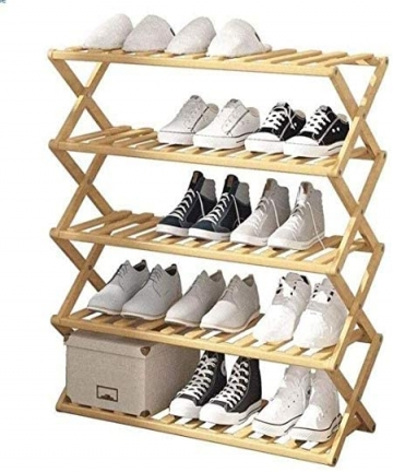 SKY-TOUCH-Bamboo-Shoe-Rack-Storage-Home-Folding-Shoe-Rack-Affordable-Shoe-Rack-Multi-Layer-Storage-Simple-and-Convenient-Size-70