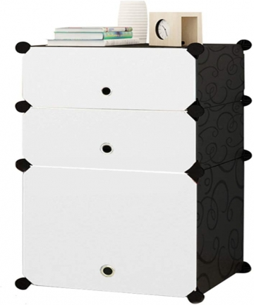 Cubic-Cabinet-Nightstand-Bedside-End-Table-Storage-Organizer-Stainless-Steel-Frame-with-Door-Dustproof-DIY-for-Bedroom-Living-Ro