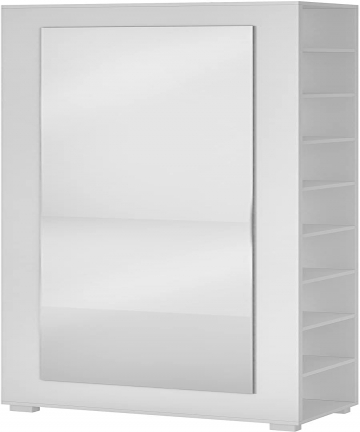 BRV-Moveis-MDP-15mmMirror-Shoe-Cabinet-BST-14-06-White-H1836-x-W25-x-D535-cm-BST-14-06