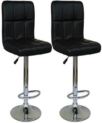 Bar-Chair-Office-Chair-Bar-Stool-Sets-Adjustable-Black-B07MVWX45P