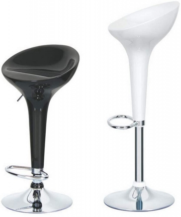Maple-Swivel-High-Chair-Bar-Stool-Adjustable-Up-and-Down-Stainless-Steel-Base-Office-Restaurant-Black-1-B0894ZLJLN