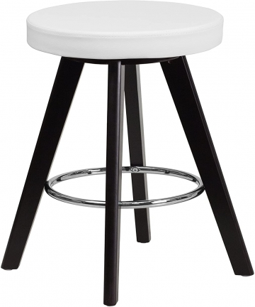 white-TRENTON-SERIES-60cm-HIGH-CONTEMPORARY-WHITE-VINYL-COUNTER-HEIGHT-STOOL-WITH-CAPPUCCINO-WOOD-FRAME-CH-152600-WH-VY-GG-CH-15