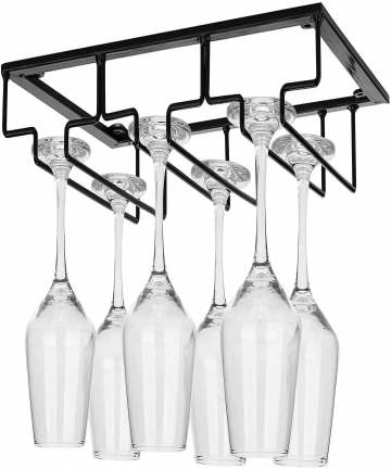 Bostar-Wine-Glass-Holder-Rack-Under-Cabinet-34-Rows-Glasses-Storage-Hanger-Organizer-for-Cabinet-Kitchen-Bar-Suitable-for-Differ