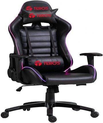 Mahmayi-1580-Gaming-Chair-High-Back-RGB-Light-with-Pu-Leather-Bucket-Seat-Upholstered-Ergonomic-360-Swivel-Headrest-Lumbar-Suppo