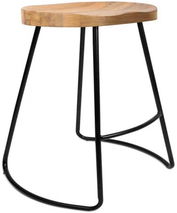 TYJ-AE-Chair-Modern-Minimalist-Bar-Chair-Home-Creative-Coffee-Lounge-Table-Wrought-Iron-High-Stool-Color-Black-Size-38-46-75cm-B