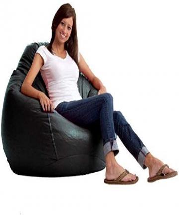 Comfy-2724303476611-PVC-Leather-Bean-Bag-Black-45kgH60-x-W80-x-D50-cm-2724303476