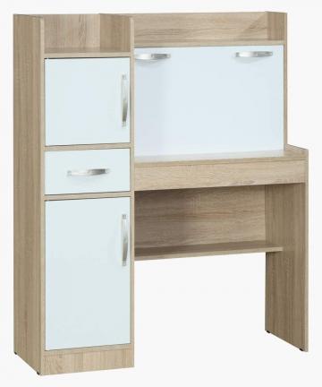 Home-Box-Costagat-Study-Desk-With-2doors-1-Drawer-SonomaWhite-B07V1TXH43