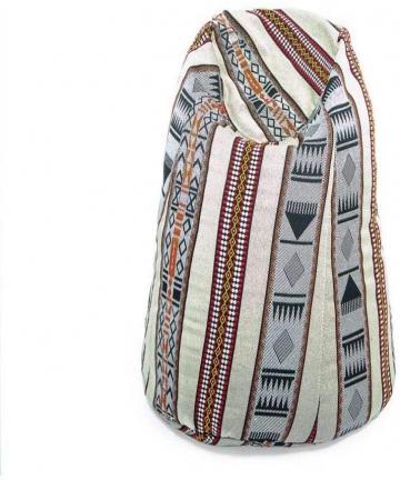 Comfy-Arabic-Majlis-Bean-Bag-White-With-Silver-B07MVWFXZZ