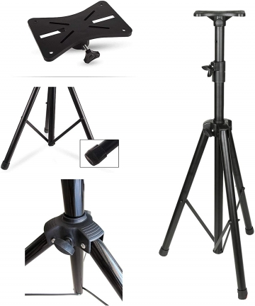 Wownect-Universal-Speaker-Stand-Mount-Holder-Projector-Tripod-Stand-Adjustable-Height-from-40-to-71-Multi-Functional-Tripod-Lapt