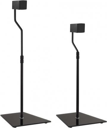 AVF-EAK85B-A-Speaker-Floor-Stands-Black-Glass-Base-Set-of-2-Black-EAK85B-A