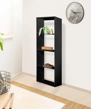 Vogue-Bookshelf-Black-H34-x-W149-x-D10-cm-B07P7MB6V6