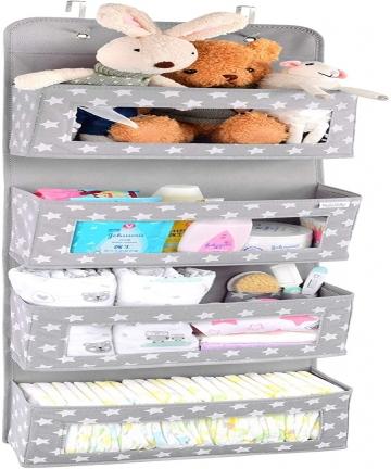 Vesta-Baby-Over-the-Door-Hanging-Organizer-Unisex-Space-Saving-4-Pocket-Storage-Solution-for-Closet-Childrens-Room-Nursery-Clear