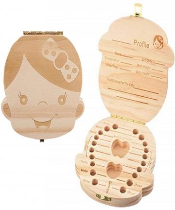 Baby-Teeth-Box-Wooden-Tooth-Album-Souvenir-Box-Organizer-Girl-AZ-005-B07NY8BFMZ