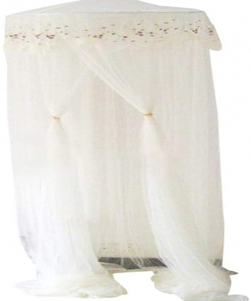 Mosquito-Net-Bed-Canopy-Lovely-Floral-Dome-Princess-Bed-Curtain-Canopy-Bedroom-Mosquito-Fly-Insect-Net-Beige-B07W6T92Y3
