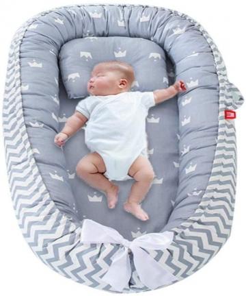 Perfuw-Baby-Lounger-Portable-Newborn-BassinetHypoallergenic-Sleep-Crib-100-Breathable-CottonPressure-resistant-Washable-CoverSim