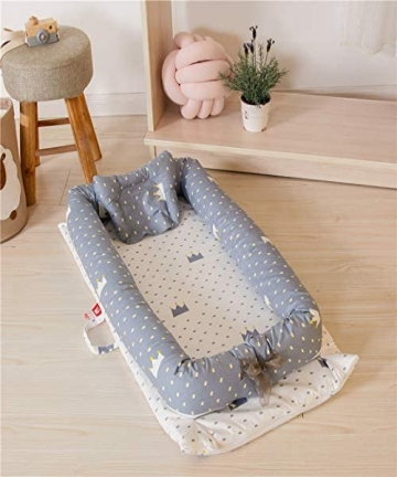 Numeo-Baby-Lounger-and-Baby-Nest-Sharing-Co-Sleeping-Baby-Bassinet-100-Soft-Cotton-Cosleeping-Baby-Bed-0-24months-Breathable-Hyp