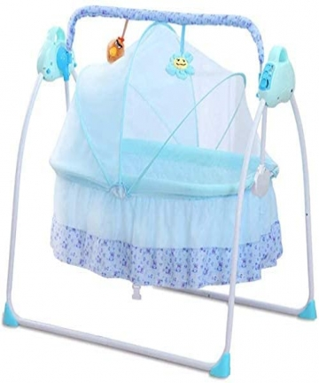 Nursery-Baby-Bed-Foldable-Baby-Toddler-Bed-Sleeping-Swing-Cradle-Built-in-Music-Remote-Control-with-Safety-Sear-Belt-and-Mosquit