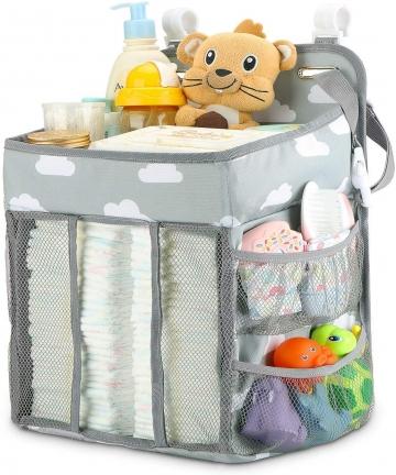Hanging-Diaper-Caddy-Organizer-Diaper-Stacker-for-Changing-Table-Crib-Playard-or-Wall-B07NZ17N8X