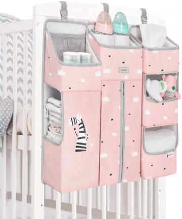 SUNVENO-Sunveno-Baby-Portable-Crib-Organizer-Pink-Pink-Pack-of-1-SN_BSC_PI
