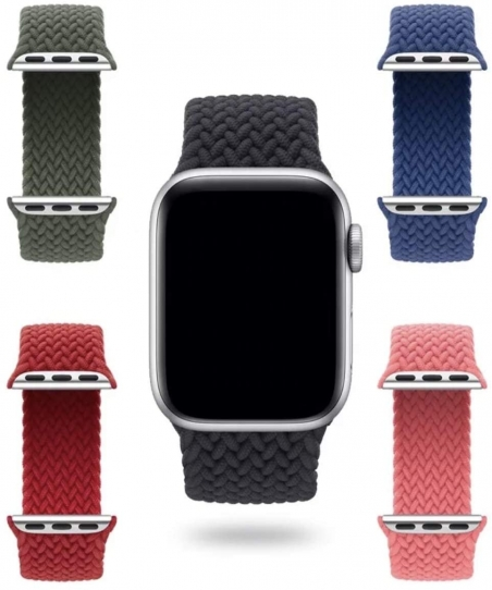 Braided Solo Loop For Apple watch band 44mm 40mm 38mm 42mm FABRIC Nylon Elastic belt bracelet iWatch series 3 4 5 SE 6 strap (M