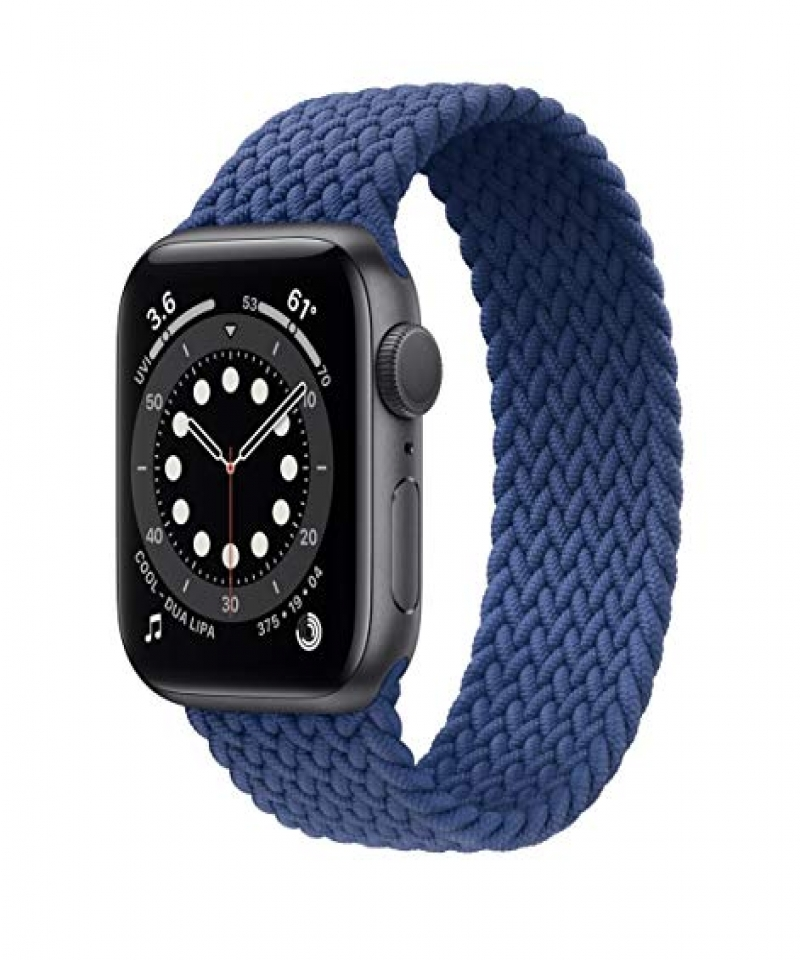 Braided-Solo-Loop-For-Apple-watch-band-44mm-40mm-38mm-42mm-FABRIC-Nylon-Elastic-belt-bracelet-iWatch-series-3-4-5-SE-6-strap-Med