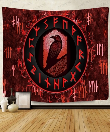 Simsant-Viking-Raven-Tapestry-Mysterious-Viking-Meditation-Psychedelic-Runes-Art-Wall-Hanging-Tapestries-for-Living-Room-Decor-4