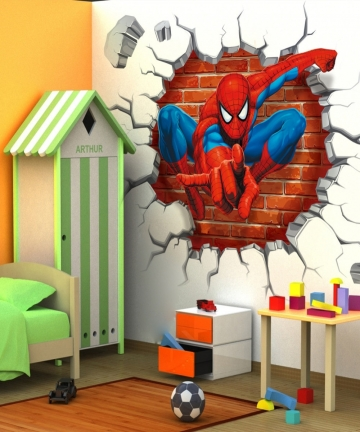 4550cm-hot-3d-hole-famous-cartoon-movie-spiderman-wall-stickers-for-kids-rooms-boys-gifts-through-wall-decals-home-decor-mural-3