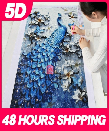 Meian-5D-Special-Shaped-Diamond-Painting-Kit-Peacock-Animal-Mosaic-Dotz-Embroidery-Art-Full-Drill-Round-Rhinestone-Picture-Set-3