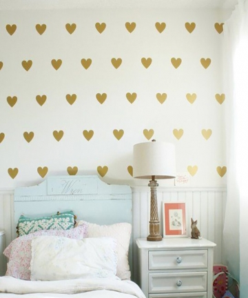 Baby-Girl-Room-Decorative-Stickers-Gold-Heart-Wall-Sticker-For-Kids-Room-Wall-Decal-Stickers-Room-Decoration-Kids-Wall-Stickers-