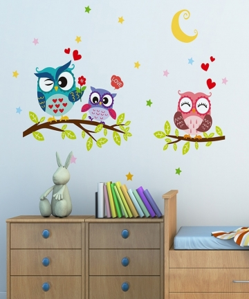 Wallpaper-Sticker-Happy-Removable-Waterproof-Cartoon-Animal-Owl-Wall-Sticker-Kids-Home-Decor-Wallpapers-For-Living-Room-40001755