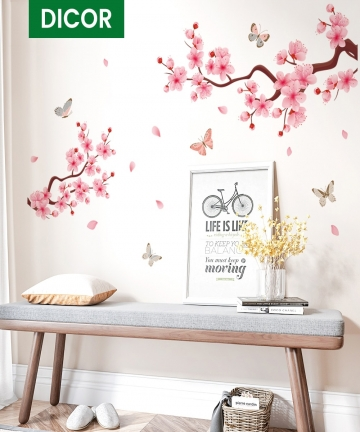 2020-New-PVC-Wall-Stickers-Pink-Peach-Blossom-Chinese-Style-Decal-For-Home-Interior-Butterflies-Wall-Decor-Romantic-DIY-Poster-3
