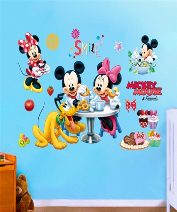 Cartoon-Mickey-Minnie-Wall-Stickers-For-Children-Bedroom-Kids-Rooms-Living-Room-Wall-Decal-Art-Poster-Mural-Christmas-Gift-Decor