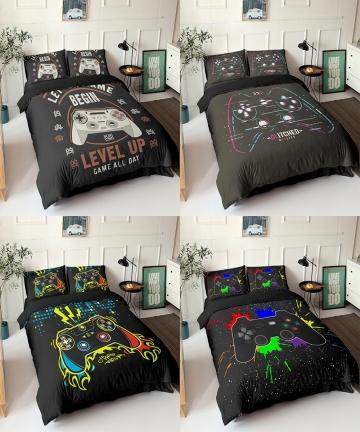 Gamepad-Bedding-Set-Queen-Size-Duvet-Cover-Creative-Black-Comforter-Bed-Cover-Set-Housse-De-Couette-Bedclothes-23pcs-40011599632