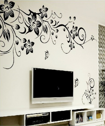 Hot-DIY-Wall-Art-Decal-Decoration-Fashion-Romantic-Flower-Wall-Sticker-Wall-Stickers-Home-Decor-3D-Wallpaper-Free-Shipping-32427