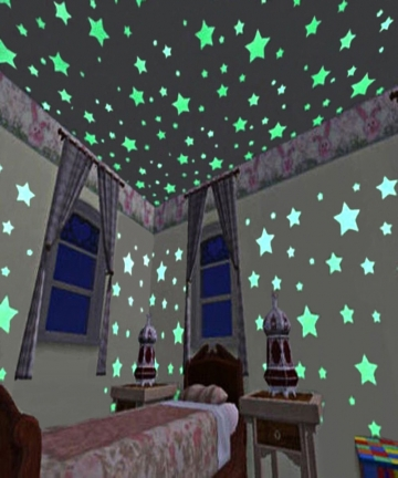 Luminous-Star-Wall-Stickers-Glow-The-Dark-Wallpaper-Decals-for-Kids-Baby-Room-Bathroom-Living-Room-Kitchen-Home-Decor-100pcsset-