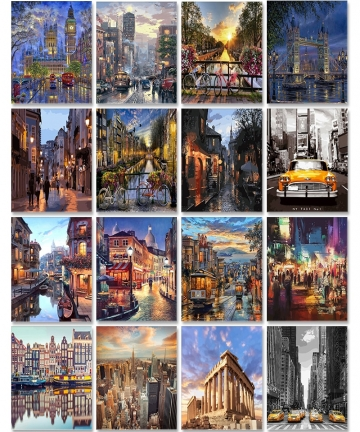 City-Landscape-Painting-By-Numbers-For-Adults-DIY-Kits-HandPainted-On-Canvas-With-Framed-Oil-Picture-Drawing-Coloring-By-Number-