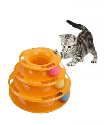Three-Levels-pet-cat-toy-Tower-Tracks-Disc-cat-Intelligence-Amusement-triple-pay-disc-cat-toys-ball-Training-Amusement-plate-100