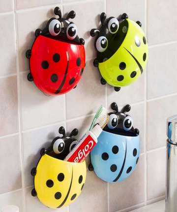 Cute-ladybug-insect-toothbrush-holder-Cartoon-Toiletries-Toothpaste-Holder-Wall-Suction-Bathroom-Sets-cup-tooth-brush-container-