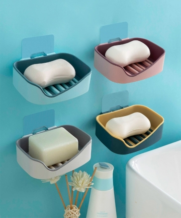 Soap-Rack-No-Drilling-Wall-Mounted-Double-Layer-Soap-Holder-Soap-Sponge-Dish-Bathroom-Accessories-Soap-Dishes-Self-Adhesive-1005