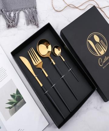 304-Stainless-Steel-Golden-Cutlery-Set-Black-Luxury-Dinnerware-Set-Kitchen-Cutlery-Mirror-Polishing-Fork-Spoons-Knives-Set-4Pcs-