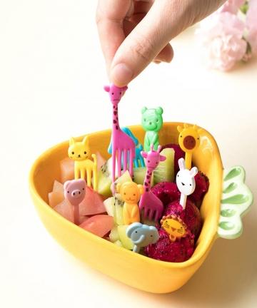 Animal-Farm-Fruit-Fork-Mini-Cartoon-Children-Snack-Cake-Dessert-Food-Fruit-Pick-Toothpick-Bento-Lunches-Party-Decor-Random-Color