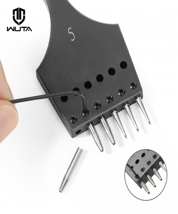 WUTA-New-Sharp-Head-Replaceable-Pricking-Iron-Removable-Round-Hole-Punch-Leather-Craft-Chisel-Leather-Tools-6-Size-Available-100