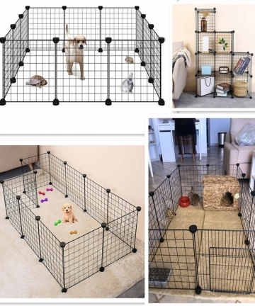 Foldable-Pet-Playpen-Iron-Fence-Puppy-Kennel-House-Exercise-Training-Puppy-Kitten-Space-Dogs-Supplies-rabbits-guinea-pig-Cage-32