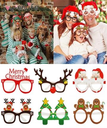 9pcs-Christmas-Glasses-Santa-Claus-Snowman-Snowflake-Tree-Elk-Paper-Glasses-Party-Photo-Props-2020-Christmas-Decoration-For-Home